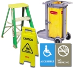 carts, steps, ladders and signs